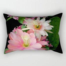 Cacti, Pink And Paler Rectangular Pillow