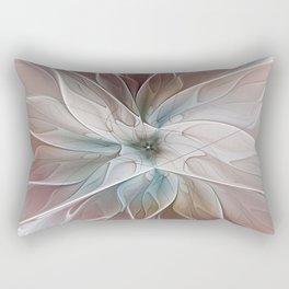 A Floral Friend, Abstract Fractal Art Rectangular Pillow
