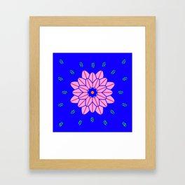 Flower power 1 Klein Blue Framed Art Print