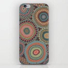 Boho Patchwork-Vintage colors iPhone Skin