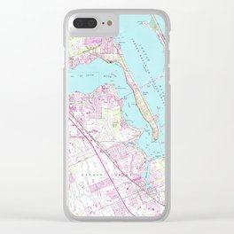 Vintage Map of Port St Lucie Inlet (1948) Clear iPhone Case