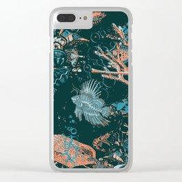 Coral Aqua Life Clear iPhone Case