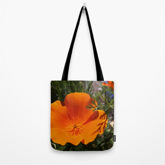 Brilliant California Poppy Tote Bag
