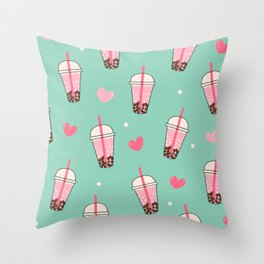 Boba Tea Love Throw Pillow