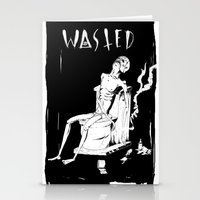 wasted rita Stationery Cards featuring WASTED by Olivier Carignan