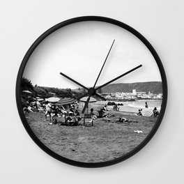 Vintage Santa Catalina Island Beach Photo Wall Clock