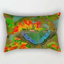 Extreme Emerald Swallowtail Butterfly Rectangular Pillow