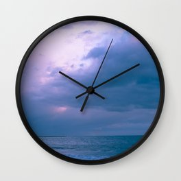 Waves and Sky Wall Clock