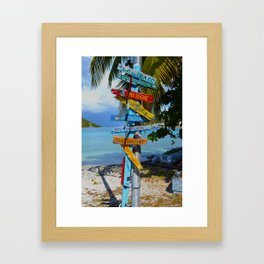 All Roads Lead to Happiness Framed Art Print