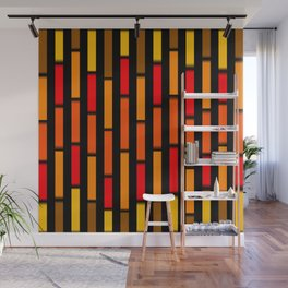 Red Orange and Yellow Wall Mural