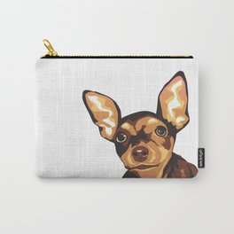 Billie the Miniature Pincher Puppy Carry-All Pouch