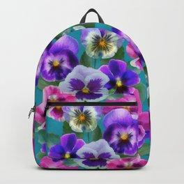 Bouquet of violets Backpack