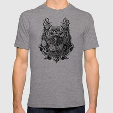 Century Owl Tri-Grey MEDIUM Mens Fitted Tee