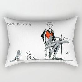 A Few Parisians: Beaubourg by David Cessac Rectangular Pillow