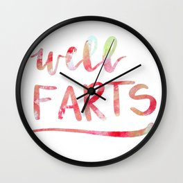 well...farts Wall Clock