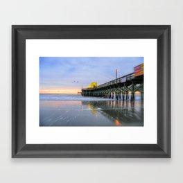 Apache Pier, Myrtle Beach Framed Art Print