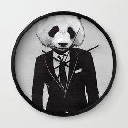 Panda Suit Wall Clock