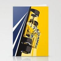 senna Stationery Cards featuring Ayrton Senna 1987 by Sean Kane Design