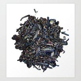 Tumult Engine Art Print