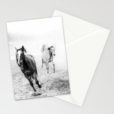 Running with the horses Stationery Cards