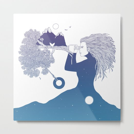 Watching the World I Once Knew (The Night Sky's Point of View) Metal Print