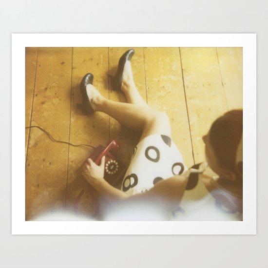 R.S.V.P. Vintage Phone Call Retro Polaroid Art Print