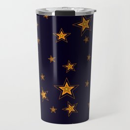 Shining Stars Seamless Pattern Travel Mug