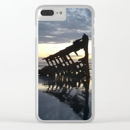 Shipwreck on the Shoreline Clear iPhone Case