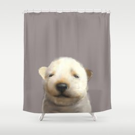 Jindo puppy runny nose Shower Curtain