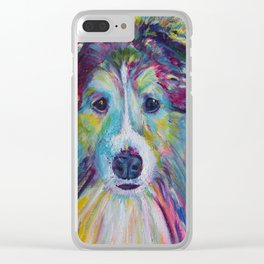 Sheltie Dog Clear iPhone Case
