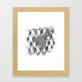 Moroccan Berber fibula Framed Art Print