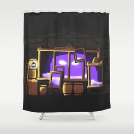 Mirrors Shower Curtain
