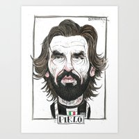 pirlo Art Prints featuring ANDREA PIRLO by BANDY