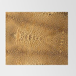Brown Beige Leopard Animal Print Throw Blanket