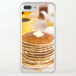 Stack of Breakfast Pancakes Clear iPhone Case