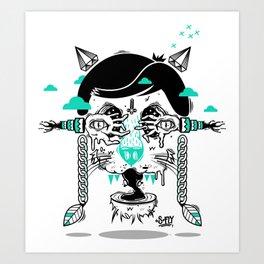 evilcat by s-fly Art Print