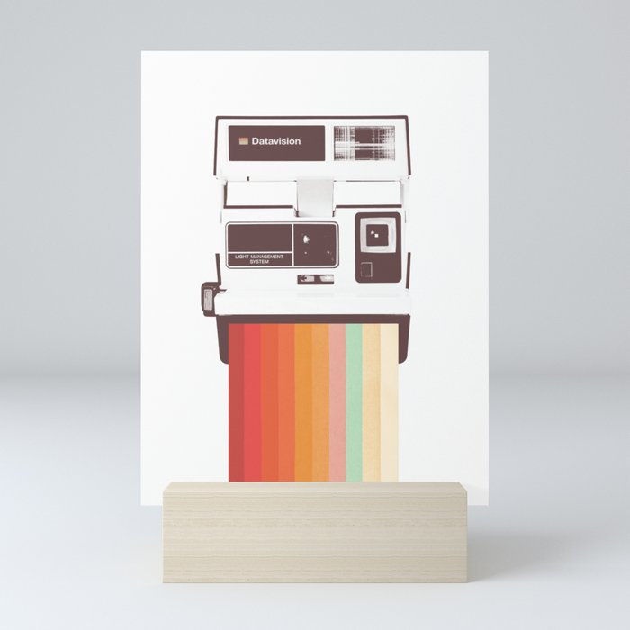 Instant Camera Rainbow Mini Art Print
