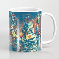 stickers Mugs featuring BOUNTY HUNTER by BeastWreck