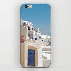 Santorini Door VIII iPhone Skin