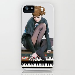 See you on a dark night - Visions - portrait of musician Grimes iPhone Case