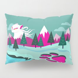 Monster Cat in the Mountains Pillow Sham