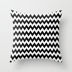 Black White Chevron Throw Pillow