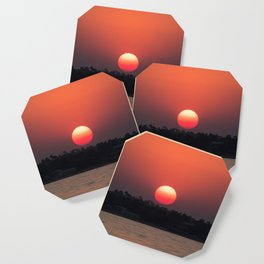 Really red sun Coaster