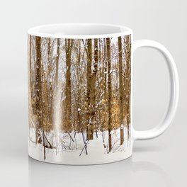 Maple Beech Forest in the Winter Coffee Mug