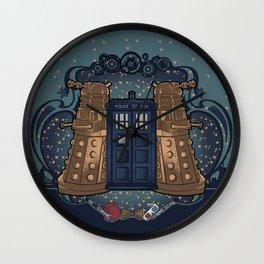 Art Nouveau Daleks and the TARDIS Wall Clock