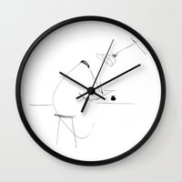 lawyer Wall Clocks featuring A hotshot lawyer by Rosa Park