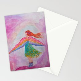 Rainbow Wings Stationery Cards