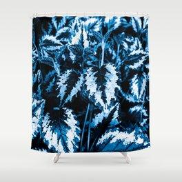 Flora exotica - midnight Shower Curtain