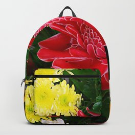 Red Torch Ginger Flower Backpack