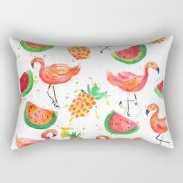 Flamingo Watermelon Rectangular Pillow